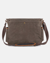The Evenlode waxed canvas and leather messenger laptop bag (2020)