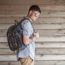 Unisex waxed canvas camera bag by Cotswold Hipster Blenheim backpack