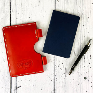 Italian Leather Notebook Sleeve with Moleskine Journals