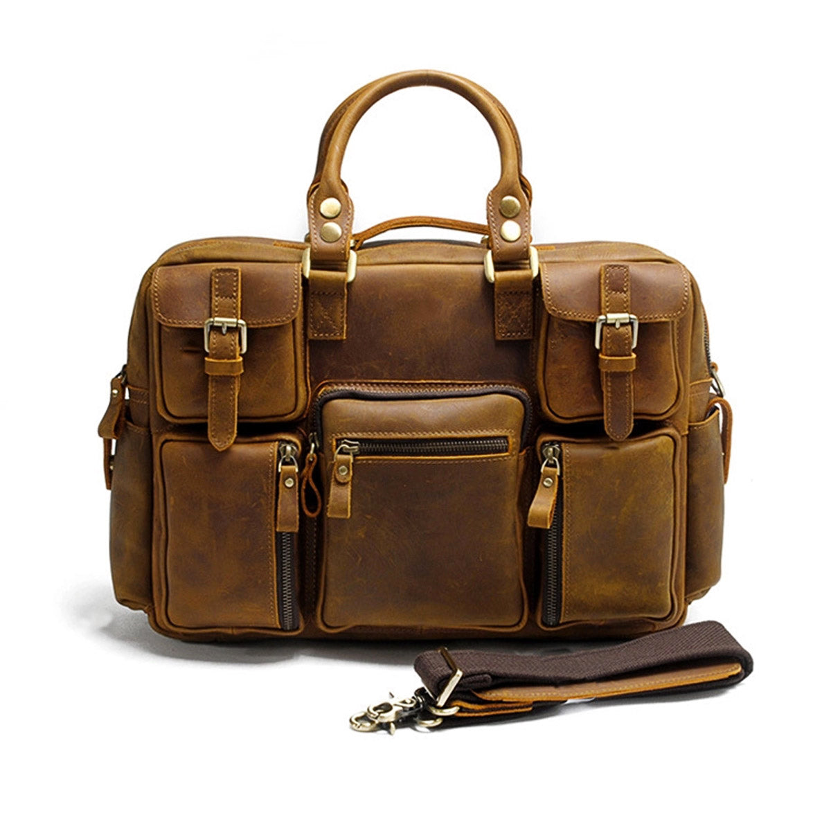 The Kemble Leather Messenger Bag