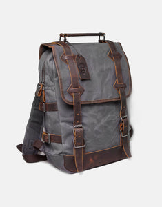 The Stanton Heavy Grade Waxed Canvas and Leather Backpack (2019)