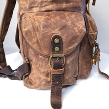 Sherbourne waxed canvas and leather backpack 2019