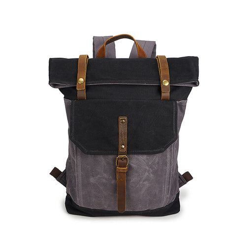 Waxed Canvas Roll top Backpack from Cotswold Hipster