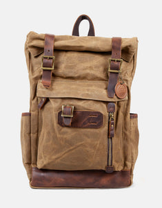 The Whichford Waxed Canvas and Leather Backpack