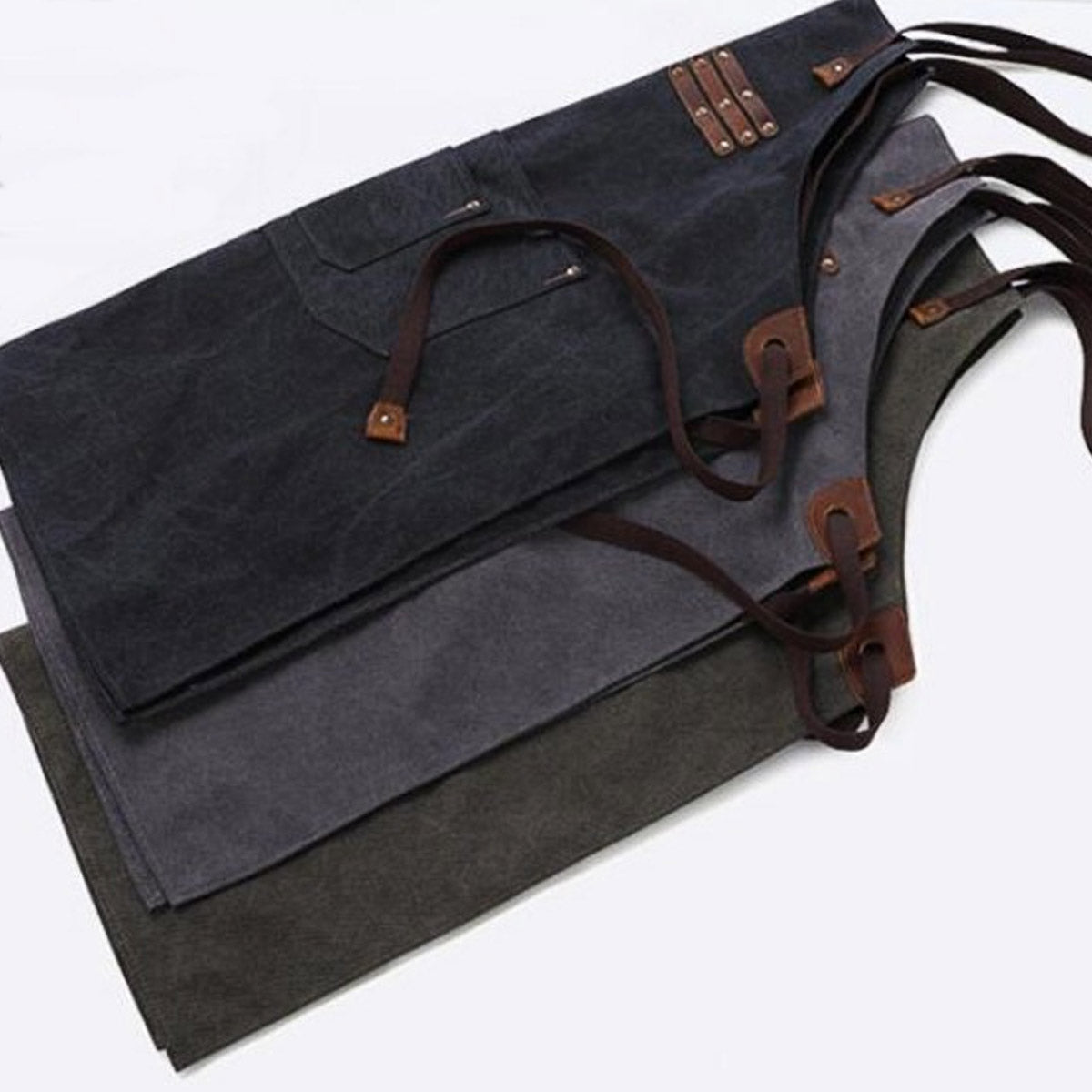 The Kingham Heavy Grade Cotton Canvas and Leather Apron – Cotswold ...