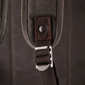 The Stanton Pro waxed canvas and leather Camera Backpack 2020