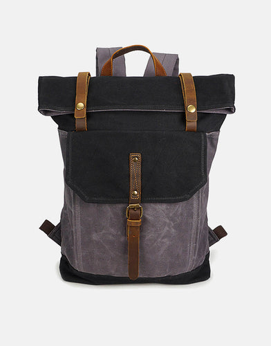The Winchcombe Waxed Canvas Roll Top Backpack