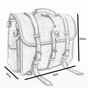The Fairford Leather Travel Bag with Backpack Attachments (2019)