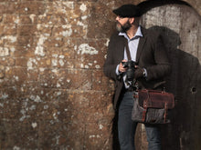The Burford Waxed Canvas And Leather Camera Bag Bags