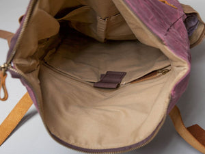 The Malmesbury Waxed Canvas And Leather Backpack Backpacks