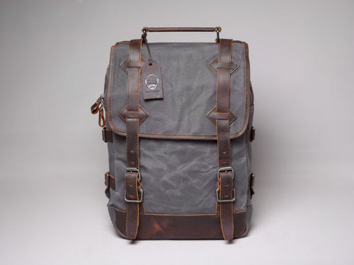 The Stanton Waxed Canvas And Leather Backpack Backpacks