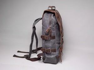 The Stanton Waxed Canvas And Leather Camera Bag Backpack Backpacks