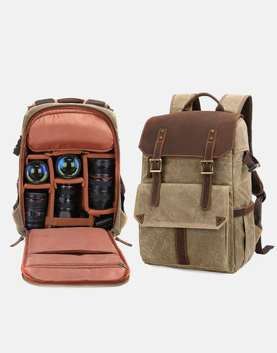 The Stroud Waxed Canvas Camera Backpack NEW (2019)