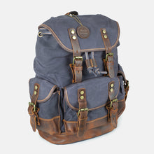 The Churchill Waxed Canvas and Leather Backpack