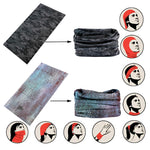 Seamless Tube Headwear Bandana Scarf Multifunctional Elastic Neckwarmer Grey Color|Faybox Bridal