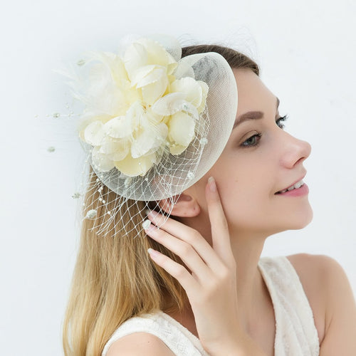 Ivory Fascinators Occasion Wedding Hats Tea Party Hat