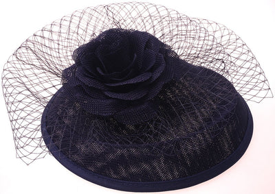 Feather Net and Veil Fascinator Cocktail Party Hair Clip Hat