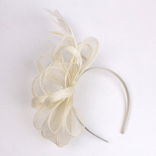 Wedding Fascinator Women Feather Hair Band Church Tea Party