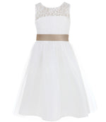 A Line Wedding Pageant Dresses Tulle Party Gown