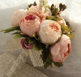 Artificial Peony Silk Flowers Bouquet Home Wedding Decoration