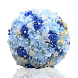 Artificial Rose Romantic Galaxy Wedding Bouquet