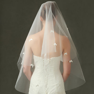 Beaded Butterfly Cathedral Wedding Veils