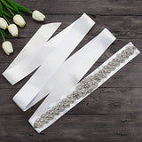 Bridal Crystal Rhinestone Belts Dress Sash Wedding Accessories