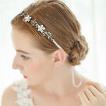 Bridal Flower Headbands Rhinestone Beaded Wedding Hair Pieces|FAYBOX BRIDAL