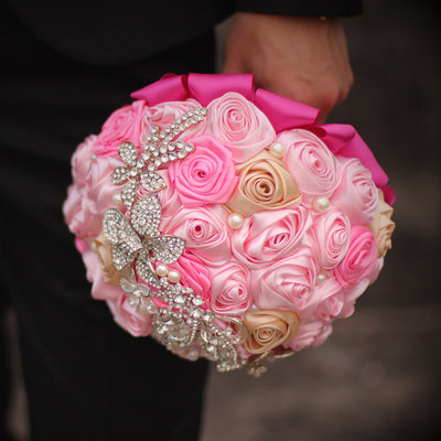 Bride Bouquet Crystal Wedding Rhinestone Brooch Bouquets