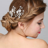 Brides Pearl and Crystal Floral Hair Pins Wedding Prom