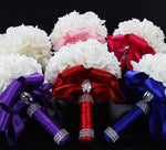 Bridesmaid Wedding Bouquet Bridal Artificial Silk Flowers