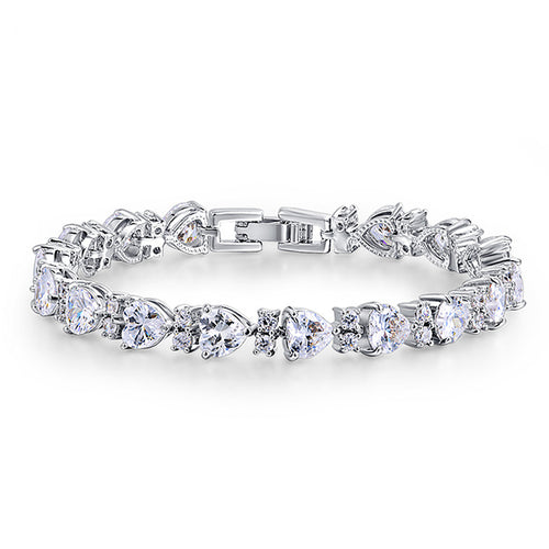 CZ Wedding Bridal or Prom  Bracelet