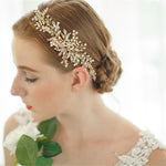 Crystal Leaf Style Headband Wedding Hair Accessories