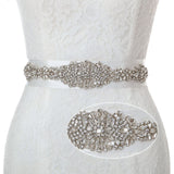 Crystal Rhinestone Wedding Sash Sparkly Belts for Dresses