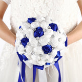 Crystal Satin Rose Bridal Bridesmaid Bouquets
