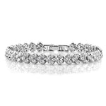 Cubic Zirconia Classic Tennis Bracelet With Swarovski Elements