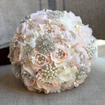 Diamond Wedding Bridal Bouquet Crystal Brooch Wedding Bouquet
