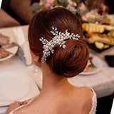 Elegant Cream Simulated Pearl Bridal Hair Comb wedding hair accessories