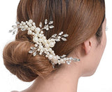 Elegant Cream Simulated Pearl Bridal Hair Comb bridal hair accessories