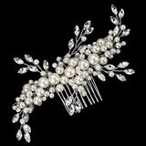 Elegant Cream Simulated Pearl Bridal Hair Comb bridal comb