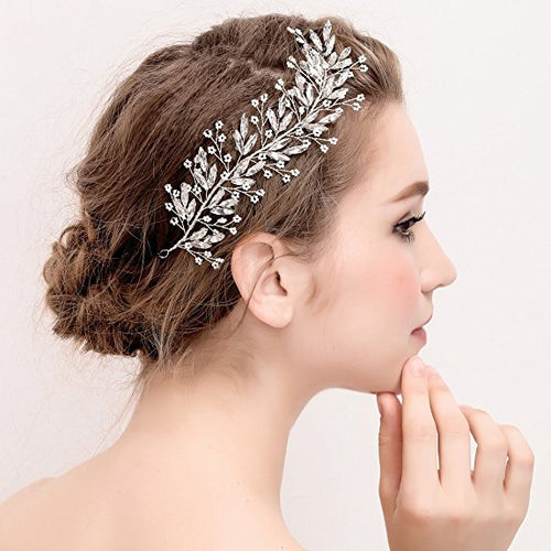 Elegant Vine Headbands Crystal Bridal Hair Pieces