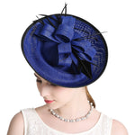 Vintage Feather Veil Fascinator Big Derby Hat