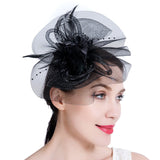 Vintage Mesh Net Fascinator Headband for Girls and Women Tea Party Cocktail