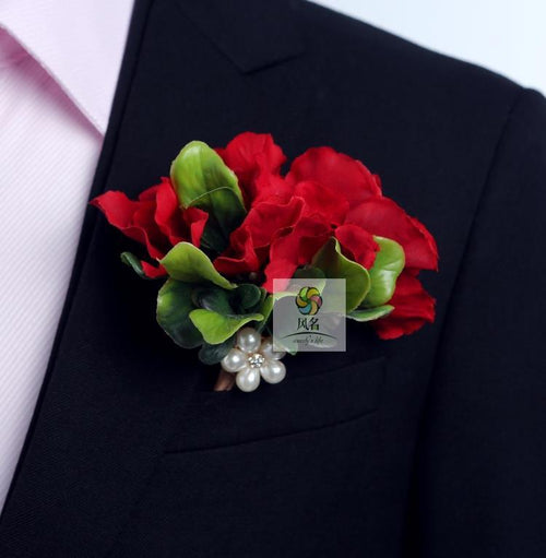 Groom Boutonniere Man Buttonholes Wedding Flowers 4 Pack