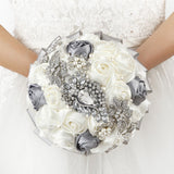 Handmade Rhinestone Bridal Bouquet bouquet of roses