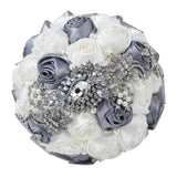 Handmade Rhinestone Bridal Bouquet cheap wedding bouquets