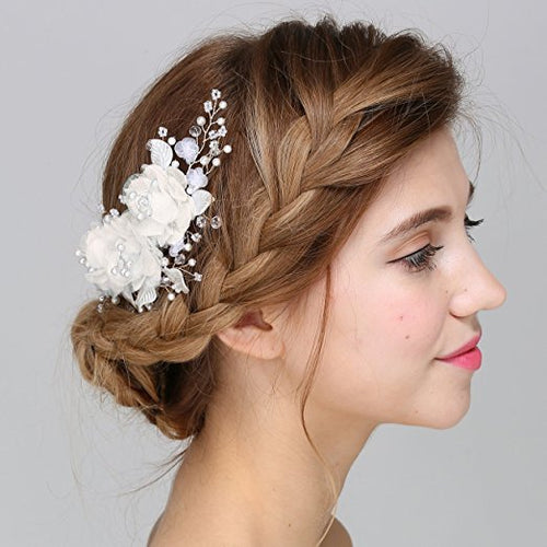 Handmade Silk Flower Bridal Hair Clips Faybox Bridal