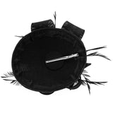 Women Elegant Fascinator Hat Bridal Feather Hair Clip Accessories