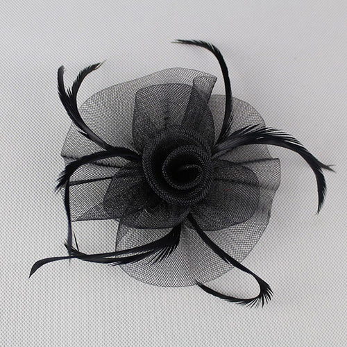 Womens Fascinators Feather Pillbox Hat Cute Beads for Cocktail Derby Wedding Church