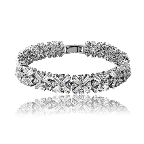 Luxurious Wedding Bridal Bracelet Cubic Zirconia